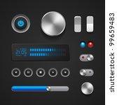 hi end user interface elements  ... | Shutterstock .eps vector #99659483