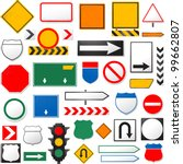 Various Road Signs Isolated On...