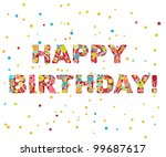 "the inscription ""happy birthday"" 