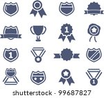 awards lables icons set  vector