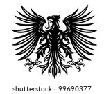 black heraldic eagles for... | Shutterstock . vector #99690377
