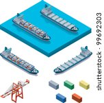 vector isometric cargo... | Shutterstock .eps vector #99692303