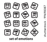 set of emotions   a collection... | Shutterstock .eps vector #99698387