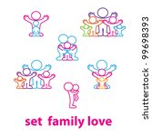 collection of icons   the love... | Shutterstock .eps vector #99698393