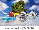 food and measurement  fitness | Shutterstock . vector #99728087