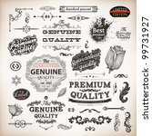 vector set  calligraphic design ... | Shutterstock .eps vector #99731927