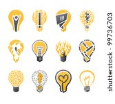 light bulb idea. collection of... | Shutterstock .eps vector #99736703