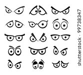 set of cartoon eyes. | Shutterstock .eps vector #99738347