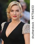 "Kate Winslet arriving for the ""Titanic 3D"" premiere at the Royal Albert Hall, Kensington, London. 27/03/2012 Picture by: Steve Vas / Featureflash - stock photo"