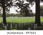 white gravestones at arlington...