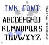 alphabet letters. hand drawn...   Shutterstock .eps vector #99765983