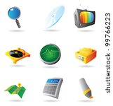 icons for interface. raster... | Shutterstock . vector #99766223