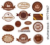 set of chocolate badges and... | Shutterstock .eps vector #99774467