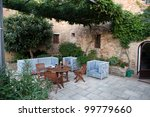 Monticchiello - Medieval village near Pienza . Tuscany. Italy - stock photo