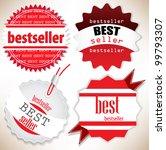 bestseller. red  labels. vector ... | Shutterstock .eps vector #99793307