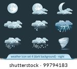 vector weather forecast icons...