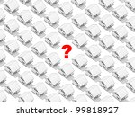 render of the white houses in... | Shutterstock . vector #99818927