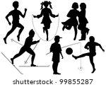 black vector silhouettes... | Shutterstock .eps vector #99855287