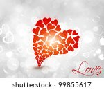 big heart shape made with many... | Shutterstock .eps vector #99855617