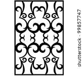 vector damask ornament | Shutterstock .eps vector #99857747