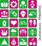 spring icons | Shutterstock .eps vector #99860933