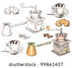 Hand Drawn Coffee Set...