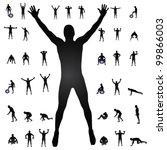 man silhouettes vector... | Shutterstock .eps vector #99866003