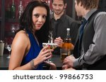 at the bar attractive young... | Shutterstock . vector #99866753