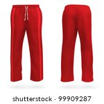 blank sweatpants design. | Shutterstock .eps vector #99909287