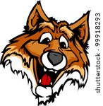 fox mascot with cute face... | Shutterstock .eps vector #99918293