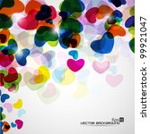 abstract colorful glossy heart... | Shutterstock .eps vector #99921047