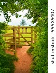 View Of Wooden Gate In...