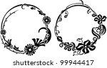two black wreath stencil in art ...