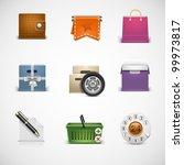 shopping vector icon set | Shutterstock .eps vector #99973817