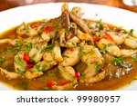 frog legs stew with parsley | Shutterstock . vector #99980957
