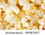 close up shot of popcorn.... | Shutterstock . vector #99987857