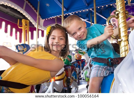 kids having fun on a carnival
