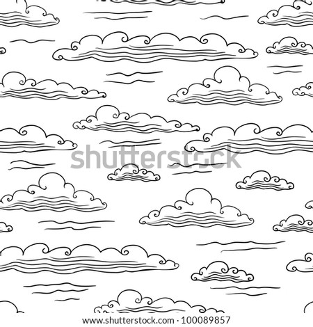 seamless background with clouds