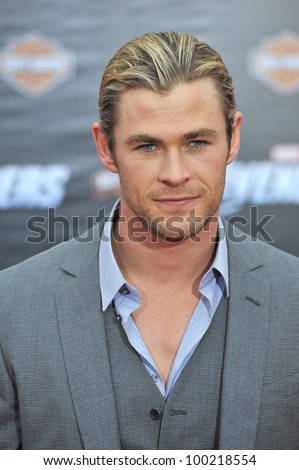 chris hemsworth at the world