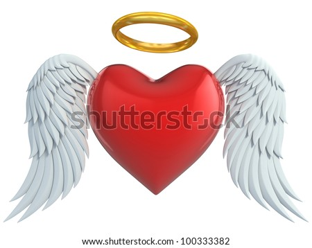 angel heart with wings and