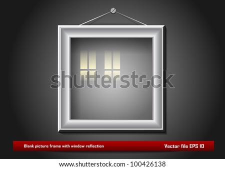 blank picture frame with window