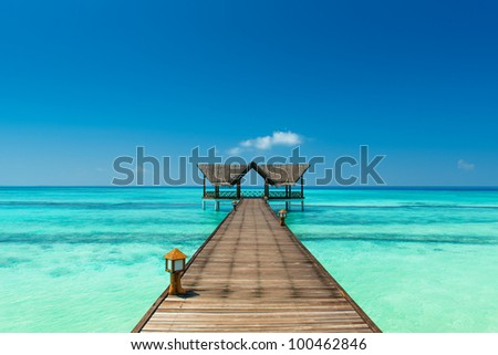 jetty over the indian ocean