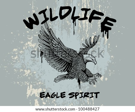 outline vector of an eagle with