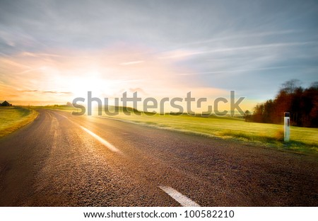 empty road with slight motion