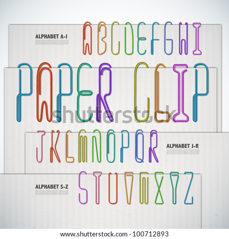 vector alphabet shaped paper