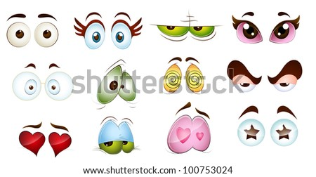 cartoon character eyes