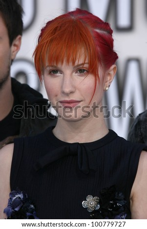 hayley williams at the 2010 mtv