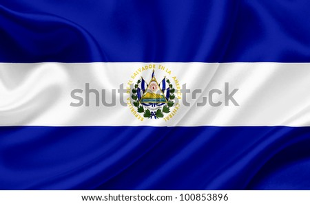 el salvador waving flag