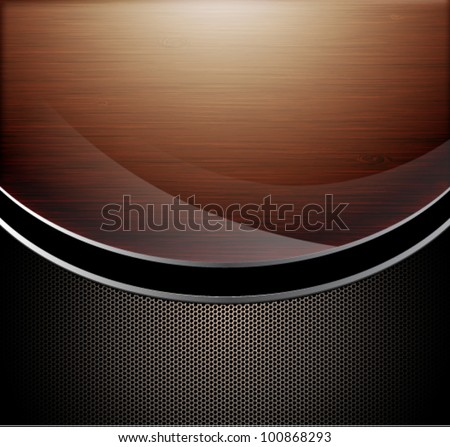 wooden polished background