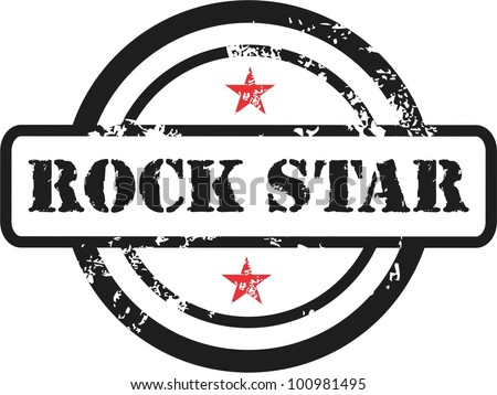 rock star rubber stamp